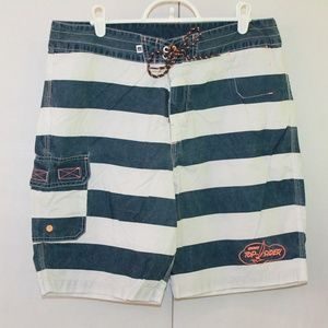 Sperry Top Sider Men's 34 Stripped Board Shorts